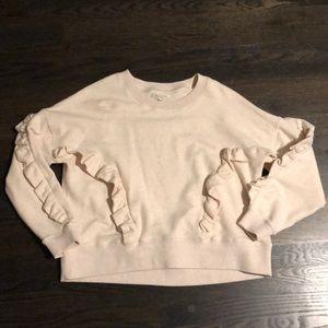 EUC Madewell ruffle sweatshirt